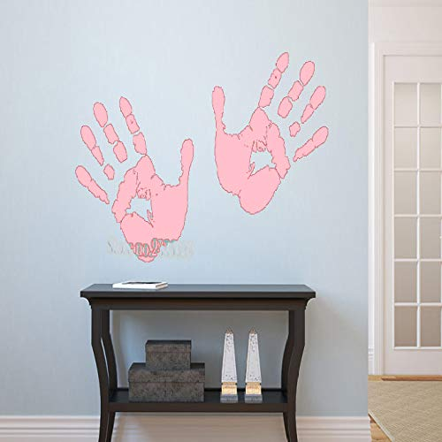 jiushizq Kreative Hand Drucken Wanddekor Aufkleber Vinyl Bunte Tapeten Declas Für Baby Kinderzimmer Büro Dekor Kunst Aufkleber Wandbild L 2 103x56 cm