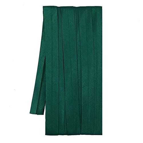 Sakura Satin Bias Tape Fold - Single Fold, Dark Green Color 12 Mm. (3 Yards / Pack) Set of 4