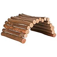 Rodents bridge is a real eye-catcher Made of real beech wood material Pets can hide under it or climb around it Great for exercise Perfect playground for hamsters, gerbils and mice, providing them with more to explore, nibble and climb