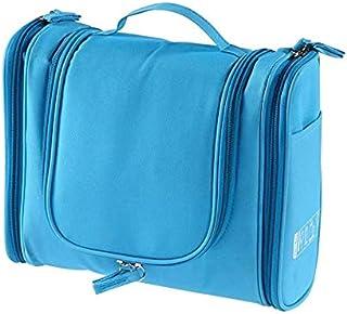 المحمولة أدوات الزينة ماكياج التجميل السفر شنقا منظم حقيبة تخزين الحقيبة - اللون الأزرق