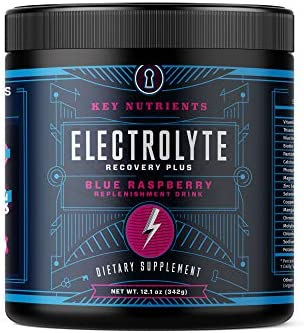 Electrolyte Powder Blue Raspberry Hydration Supplement 90 Servings Carb Calorie Sugar Free Delicious product image