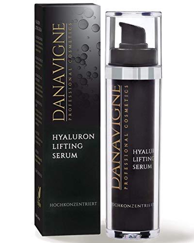 DANAVIGNE Reines Hyaluron Serum hochkonzentriert - Straffendes Anti Aging Gel mit Hyaluronsäure - Anti Falten Soforteffekt -Lifting Serum Augen, Gesicht, Hals & Dekolleté - 1er Pack (1 x 50 ml)