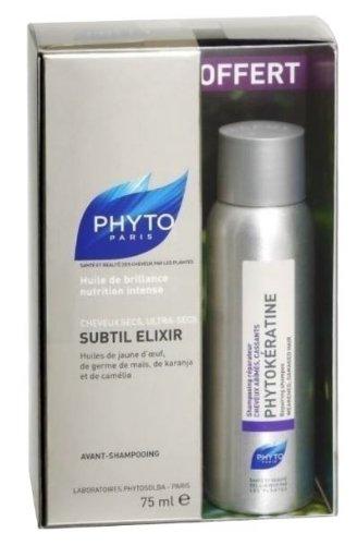 Phyto Subtil Elixir Intense Nutrition Shine Oil 75ml + Shampoo Phytokératine 50ml Free