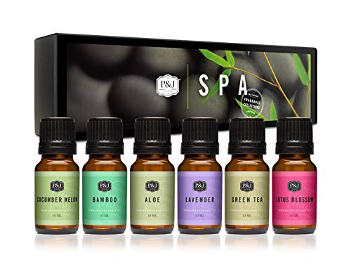 P&J Trading Fragrance Oil | Spa Set of 6 - Scented Oil for Soap Making, Diffusers, Candle Making, Lotions, Haircare, Slime, and Home Fragrance