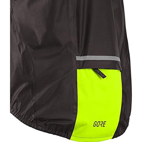 GORE Wear C5 Men's Cycling Jacket GORE-TEX SHAKEDRY, XL, Black/Neon Yellow