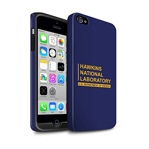 Stuff4® matte harde schokbestendige hoes/case voor Apple iPhone 4 / 4S / blauw patroon/Hawkins nationale laboratorium collectie