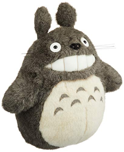 Mein Nachbar Totoro Ghibli Stofftier Plüsch Plüschtier Plüschfigur: O Totoro (Miminzuku) Grinsend Grau M 27 cm