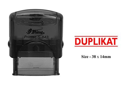 DUPLIKAT Customized Self Inking Stempel glänzend S-842 Office stationäre Stempel
