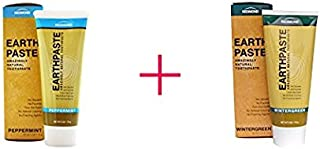 Redmond Redmond earthpaste - natural non-fluoride toothpaste, 4 ounce tube (2 pack, peppermint and wintergreen)