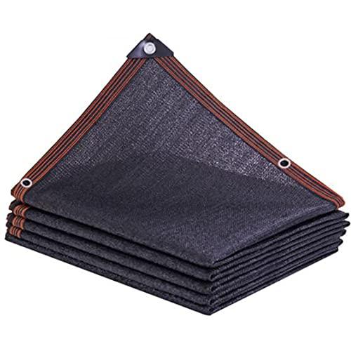 LNX Schwarz Schattennetz (Schattierungsrate 85-90prozent) UV Schutz Sonnenschutz Atmungsaktiv Rechteckig - Schattenmarkise - Gewächshaus Garten Pergola Scheune Schattentuch
