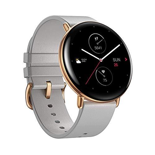 Zepp E Smartwatch Orologio intelligente fitness tracker circolare con frequenza cardiaca, SpO2 e monitoraggio del sonno REM, corpo in acciaio inossidabile con cinturino Android e IOS Gris, Normal size