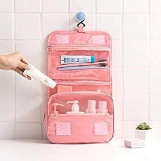 Travel Toiletry Bag, Eesteros Portable Makeup Pouch Bag Waterproof Travel Organizer for Women and Girls(Pink)