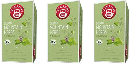 Teekanne Bio Kräutertee - 3er Pack Bergkräuter (3 x 20 Beutel, 108 g)