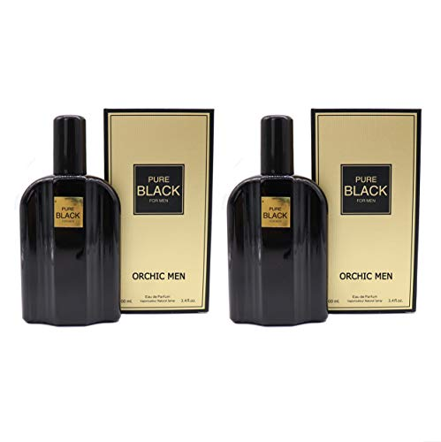 J&H PURE, Eau de Toilette Spray Fragrance for Men, Wonderful Gift, Masculine Scent, Daytime and Casual Use, for all Skin Types, a Classic Bottle, 3.4 Fluid Ounce(Pack of 2)