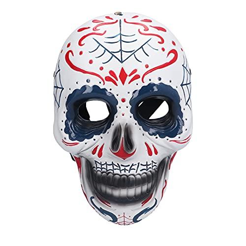 Mscara de Halloween, mscara con Forma de Calavera de Resina, mscara Unisex nica para Halloween, Disfraz de Cosplay, Fiesta, mscara Facial, Accesorios, decoracin