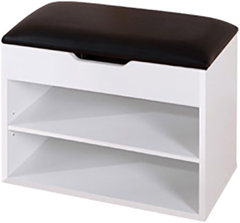 LJHA ertongcanyi Modern Footstool shoes Cabinet Multifunction Boots Storage Stool Sofa Stool (6 colors Optional) (color   White, Size   40  45cm)