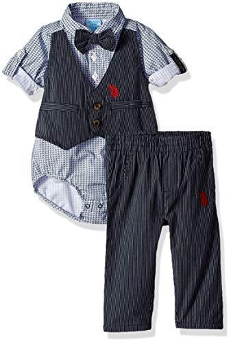 U.S. Polo Assn. Baby Boys Bodysuit and Pant Set Pants