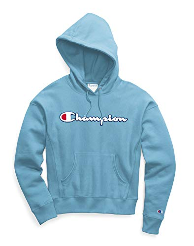 Champion LIFE Reverse Weave Pullover Hoodie Chenille Active Blue SM