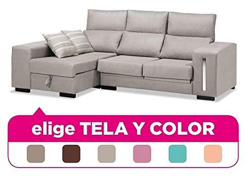 Mueble Sofa con Chaise Longue, tapizado al Gusto, 4 plazas, Subida A Domicilio ref-85