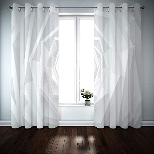 Gordijnen Blackout Voor Slaapkamer Wit transparante vortex, Gordijnen Geïsoleerde Thermische Gordijnen Verminderen Ruis Modern Decoratief Gordijn, Gordijn Voor Slaapkamer Woonkamer Kwekerij, 170 (W) X255 (H) CM*2panel