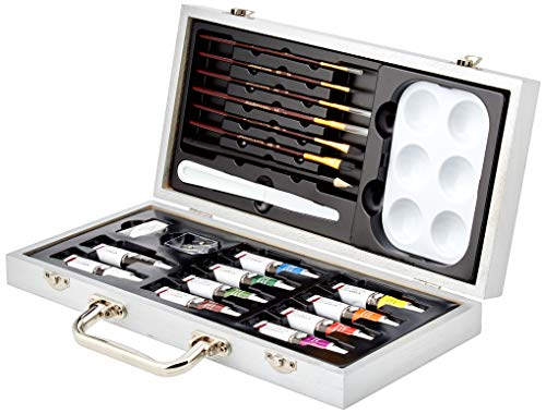 Beginner Watercolor Painting Wood Box Set