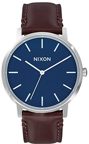 Nixon Herren Analog Quarz Uhr mit Leder Armband A1058879-00
