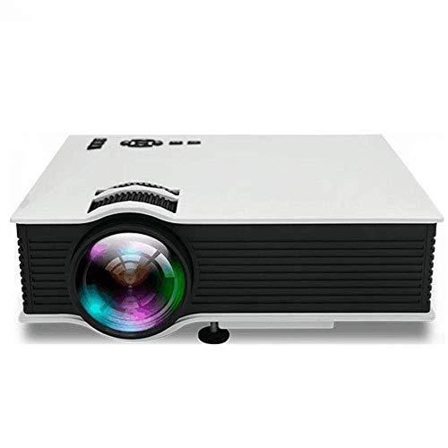 Inicio Compacto proyector HD con conexión inalámbrica, Soporte HD 1080P138 Pulgadas de Pantalla Grande, Compatible con USB/SD/AV/HDMI/VGA/IR ZHNGHENG
