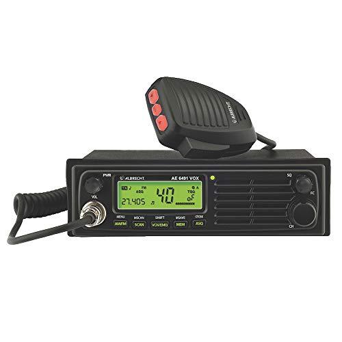 Albrecht AE6491 VOX CB-Funkgerät mit Freisprecheinrichtung, 12648.01, 12/24 Volt Version, mit CTCSS, 4 Watt AM/FM, inkl. DIN Einbaurahmen