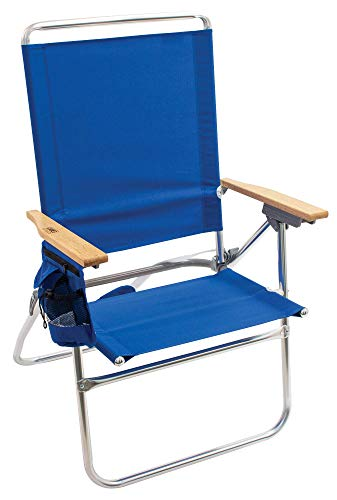 Rio Gear Beach Hi-Boy silla de playa plegable de 44,5 cm, color azul