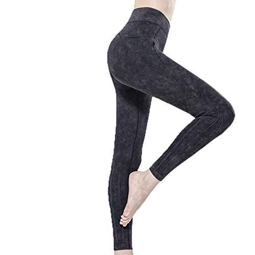LaiYuTing 2020 Neue Hochelastische Sportstrumpfhose Atmungsaktive Sexy Fitnesshose Frauen, Die Sport Treiben Nahtlose Yogahosen Taschen