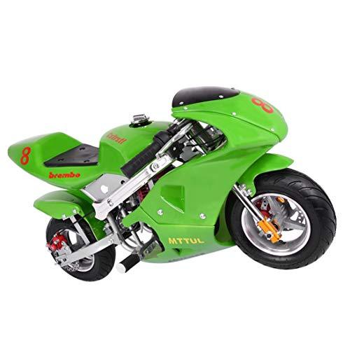 2020 Mini Gas Pocket Bike 49cc 4 Stroke, Support Up to 200 lbs, Perfect Mini Pocket Bike for Kids (Green)