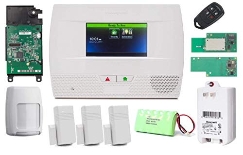 Honeywell Lynx Touch L5210 Wireless Home Security Alarm and Automation 311 kit with LTE-L57V Verizon LTE Communicator, WiFi, and Z-Wave