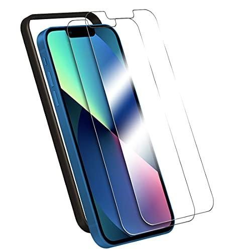 ガイド枠付き 2枚セット iPhone 13 mini 用 ガラスフィルム 日本旭硝子製 強化ガラス 液晶保護フィルム 気泡防止 自動吸着 防指紋 Mimall