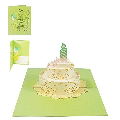 Geburtstagskarte 1. Geburtstag Junge Mädchen Glückwunschkarte 3D Pop Up Karte Glückwunsch Kinder Kindergeburtstag Einladung Geburtstagstorte - Torte 048