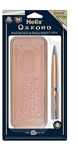 Oxford 899716 matemáticas Set y bolígrafo – oro rosa