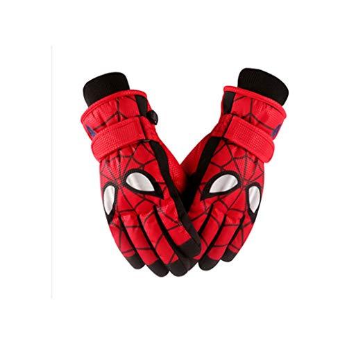 HUOQILIN Kinderen Warme Handschoenen Katoen Winter Jongen Spiderman Cartoon Waterdichte Speel Sneeuw Vijf Vingers Fiets Primaire School Ski Handschoenen