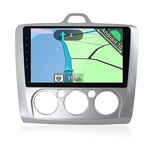 YUNTX Android 10 Autoradio Compatibile con Ford Focus (2006-2011) - GPS 2 din - [2GB+32GB] - 9 pollici - Telecamera Posteriore Gratuita - Supporto DAB / 4G / WiFi / Bluetooth / MirrorLink / Carplay