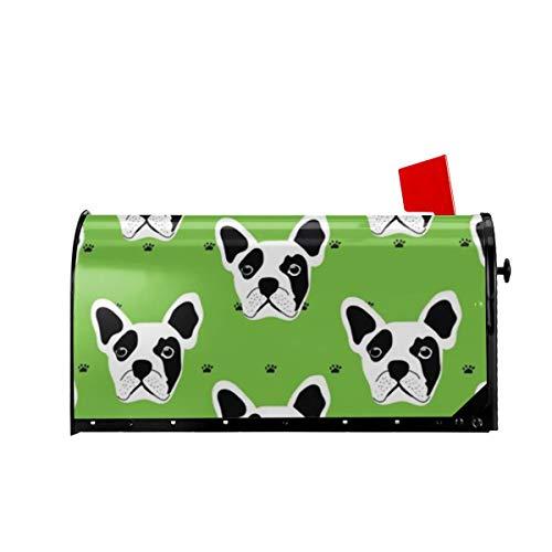 Sunny R Willkommen Briefkasten Abdeckungen Französisch Bulldogge Magnetisch Verpackt Briefkasten Briefkasten Abdeckung für Garten Hof Dekor 21x18 Zoll