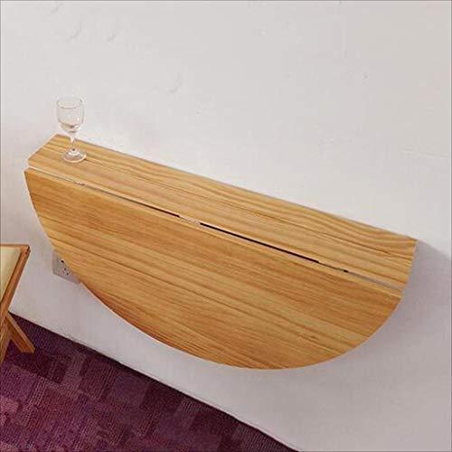 Tische PENGJUN Wandtisch aus Massivholz halbrund Wand-Klapptisch Esstisch Kindertisch 80x40cm Werkbank (Farbe : Holzfarbe)
