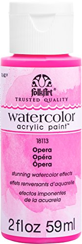 FolkArt Watercolor Acrylic Paint, 2 oz, Opera
