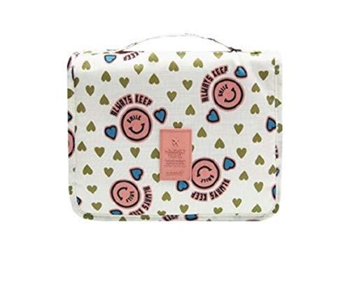 Sacs suspendus de toilette Organisateur Maquillage Sac Organisateur Voyage Trousse de maquillage Make Up Pouch boîte toilettes bain Menwomen toilette Bog (Color : Pink smiley face)