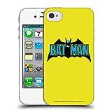Head Case Designs Officiel Batman DC Comics Classique 2 Logos Coque en Gel Doux Compatible avec iPhone 4 / iPhone 4S