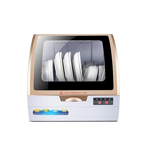 Lavavajillas Compacto Para Encimera,Compacto De Encimera + Alta Temperatura + Temperatura Media Secado Sistema De Unsolobotónunos15minutos800w(Independiente, Acero Inoxidable, Botones,Desinfección , Secado, 45 X 37 X 43 Cm)