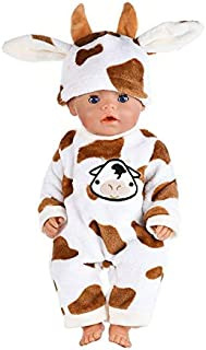 TREGIA 2Pcs/Set Suit+Shoes Dolls Outfit for 43Cm Doll Cute Jumpers Rompers 17 Inch Zapf Doll Clothes Thing You Must Have Gift Ideas Toddler Favourite Superhero Party Favors UNbox Game