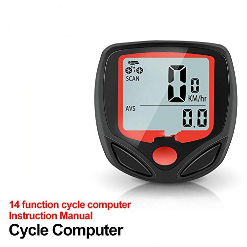 ANZQHUWAI New Bicycle Meter Speedometer Bike Digital LCD Cycling Computer LCD Odometer Speedometer Stopwatch for Bike