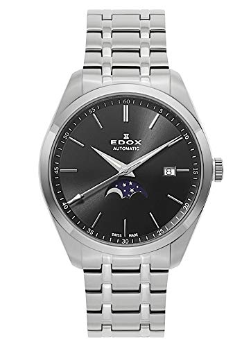 EDOX herenhorloge Les Vauberts maanfase datum analoog 80505 3M NIN