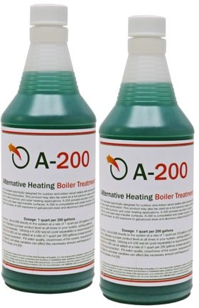 A200  (Alternative Heating Boiler Treatment, Rust Inhibitor for Outdoor Wood Boilers, 2 Quarts, Treats 400 Gallons)