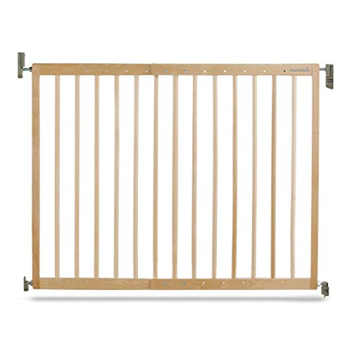 Munchkin Tür-/Treppenschutzgitter mit Wandbefestigung, verstellbare Breite, 63,5-106 cm, Holz