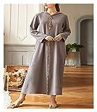 DSJTCH イードムバラクカフタンドバイアバヤトルコイスラム教徒のヒジャーブドレスイスラム服Abayas女性のドレスローブMusulman・デ・モードVestidos (Color : Gray dress, Size : X-Large)