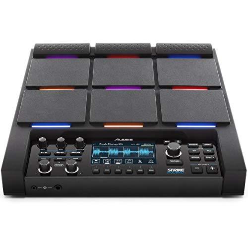 Alesis Strike Multipad - Pad a percussione con 9 pad trigger con colori RGB, campionatore, scheda audio integrata 2-In/2-Out, e USB
